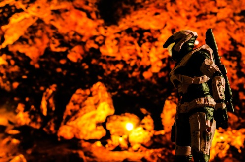 soldier and fire